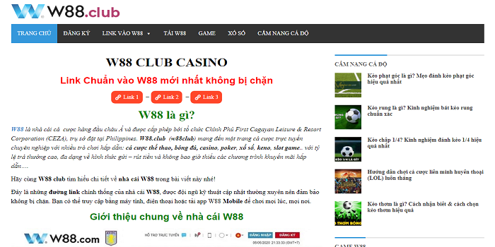 The Availability of Online Gambling at w88 club